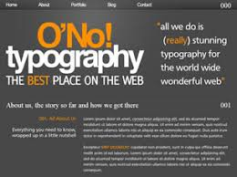 typography templates o no typography free website template free css templates free css