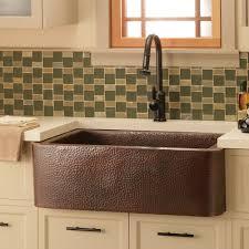 Copper Kitchen Decorations Decorating Single Bowl Copper Farm House Sinks With Decorative