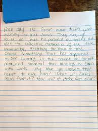 roderick bomster rwms th grade english this class completed a writing prompt based on the giver