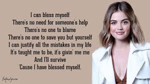 Lucy Hale - Bless Myself (Lyrics) 🎵 - YouTube