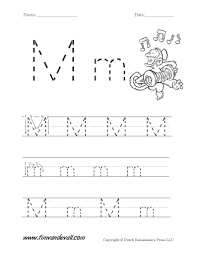 Colorning Sheets Preschool Letter M Worksheets Securityproject