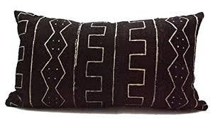 black and white lumbar pillow.  Pillow Vintage African Black And White Mudcloth Lumbar Pillow To And U