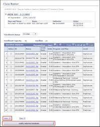 class roaster notifying students via class roster 21b curriculum management