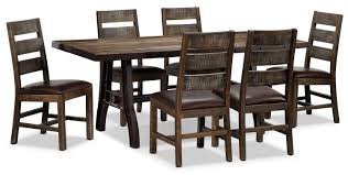 Urban Splendor 7 Piece Dining Room Set Rustic Pine Leon S