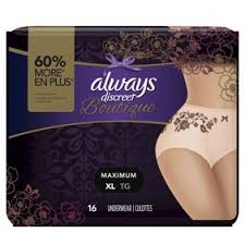 Always Discreet Boutique Incontinence Underwear For Women Maximum Protection Peach Small Medium 20 Count