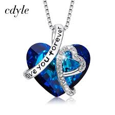 Cdyle <b>Women Necklace Pendant Embellished</b> with crystals from ...
