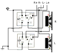 relay basics i hope the diagram helps make it seem simple the relays at rest the amp is running in two channel mode