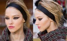 chanel headband. chanel black cc top runway dress hair headband new in box n bag chanel headband k