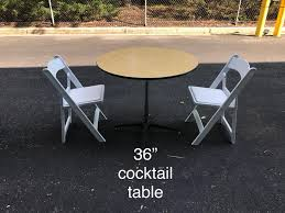 36 round cocktail table chairs