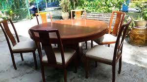 rosewood dining table 7 6 rosewood round dining table with 6 chairs 1