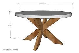 diy coffee table easy x base table