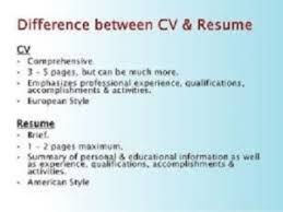 Differences Between Cv And Resumes Cv Resume 40 40 40 Practicable Cool Difference Between Cv And Resume