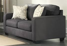 Alenya Charcoal Loveseat by Ashley Furniture