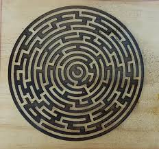 Wooden Maze Game With Ball Bearing 100D Maze from solid piece of wood Darkly Labs Support 53