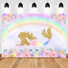 neoback mermaid backdrop baby shower photography background under sea bed caslte corals princess backdrops