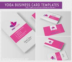 Yoga Business Cards Free Psd Templates Editable Business Cards For