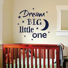 dream big little one wall art decal baby nursery quotes wall sticker diy kids room vinyl lettering removable high quality cut vinyl q226 dream big little  on dream big little one wall art with dream big little one wall art decal baby nursery quotes wall sticker
