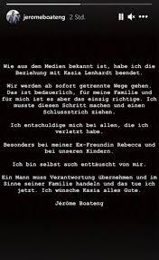 Den tod des models bestätigte ihre freundin sara kulka auf instagram. Fc Bayern Jerome Boateng Gibt Trennung Von Freundin Kasia Lenhardt Bekannt Abendzeitung Munchen