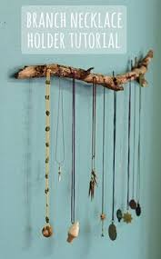 Spring Jewelry Display : hang necklaces and bracelets from driftwood
