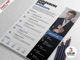 Psd Clean Resume Cv Template Psdfreebies Com