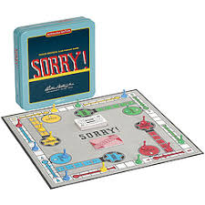 Wooden Sorry Board Game America's favorite slide pursuit game was first offered by Parker 28