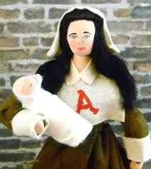 hester prynne doll complete miniature baby pearl nathaniel  hester prynne doll complete miniature baby pearl nathaniel hawthorne the scarlet letter by uneek doll designs nathaniel hawthorne