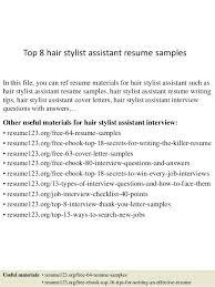 Hair Stylist Assistant Resume Sample Topshoppingnetwork Com