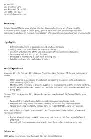maintenance worker resume maintenance worker resume sample ipasphoto