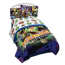 Ninja Turtle Bedroom Furniture Amazoncom Nickelodeon Teenage Mutant Ninja Turtles Stars 3