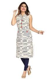 Sleeveless Long Kurti Designs Buy Dragaon Designer Cotton Printed Sleeveless Long Kurti