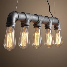 edison light bulb chandelier pipes retro bar sets chandeliers pertaining to brilliant residence edison light bulb chandelier prepare