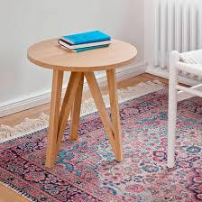 contemporary side table oak round white jl2 by julian löhr