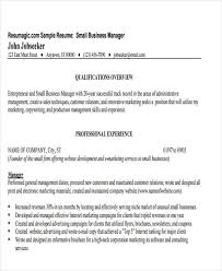 small business manager resume small business manager job description