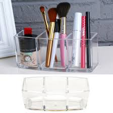 acrylic makeup organizer cosmetic holder makeup tools storage box brush and accessory