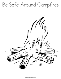 Small Picture Be Safe Around Campfires Coloring Page Twisty Noodle
