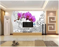 Wall Mural For Living Room Popular Orchid Wall Murals Buy Cheap Orchid Wall Murals Lots From