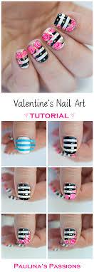 Valentine's Roses Nail Art Tutorial - Paulina's Passions