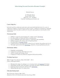 Advertising Resume Examples Communications Professional Resume Good ...