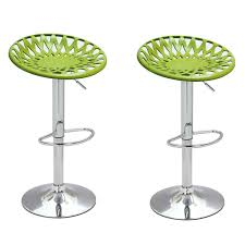 Acrylic Barstool Joveco Paper Cut Style Modern Swivel Adjustable Acrylic Bar Stool