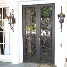 wood entry doors with glass and wrought iron charming iron glass front doors wood with and