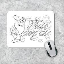 Zweer Kleurplaat Mousepad Volwassen Muismat Kus Mijn Ss Etsy