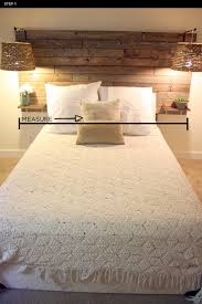 rustic headboard designs pertaining to make your own diy andreasnotebook com 7