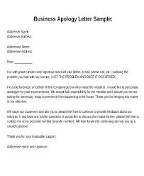 Apologize Business Letter Sample Of Apology Letter To Customer Iso Certification Co