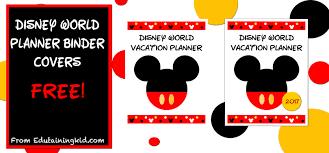 Disney World Planner Binder Covers Edutaining Adventures