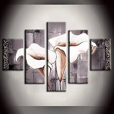 mechanism pure lily white flower modern canvas art wall decor floral oil painting wall on white floral canvas wall art with mechanism pure lily white flower modern canvas art wall decor floral