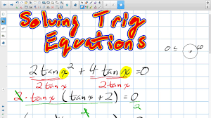 solving trig equations grade 12 college technology lesson 5 7