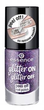 Essence Lak Na Nehty S Třpytkami Glitter On Glitter Off Peel Off