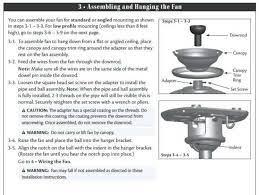 hampton bay ceiling fans installation