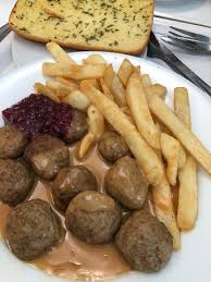 Swedish Meatballs And Chips With Lingonberry Jam And Gravy Picture