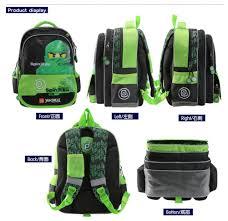 YOURNELO Boys New Lego Ninjago Rucksack Primary School Backpack Bookbag  (Green)